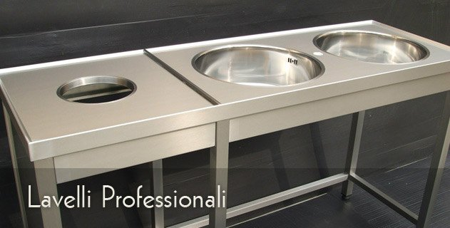 Lavelli professionali acciaio inox su misura succo mario for Lavelli cucina inox